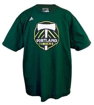 Portland Timbers Adidas The Go To Green Tee Shirt (Adult XXL)