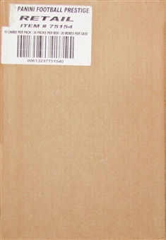 2012 Panini Prestige Football Retail 20-Box Case