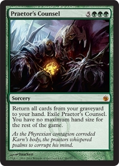 Magic the Gathering Mirrodin Besieged Single Praetor's Counsel Foil
