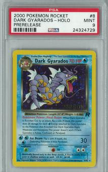 Pokemon Team Rocket Prerelease Single Dark Gyarados 8/82 PSA 9