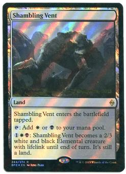 Magic the Gathering Battle for Zendikar Prerelease Single Shambling Vent FOIL - NEAR MINT (NM)