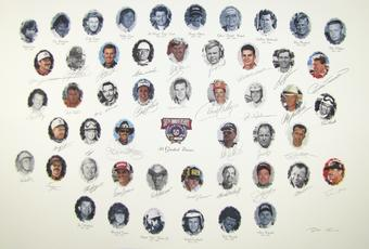 NASCAR 50TH Anniversary Autographed Lithograph - Owner Edition - 34 Signatures with Dale Earnhardt Sr.