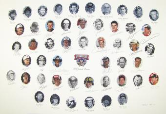 NASCAR 50TH Anniversary Autographed Lithograph - Sponsor Edition - 34 Signatures with Dale Earnhardt Sr.