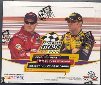 2003 Press Pass Stealth Racing Hobby Box