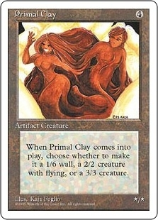 Magic the Gathering 4th Edition Single Primal Clay - NEAR MINT (NM)