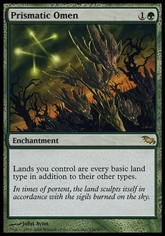 Magic the Gathering Shadowmoor Single Prismatic Omen - SLIGHT PLAY (SP)