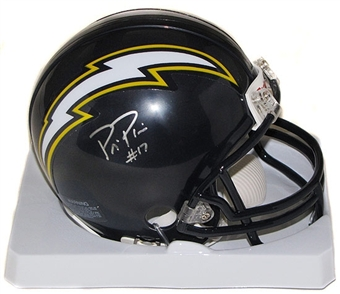 Philip Rivers Autographed San Diego Chargers Football Mini Helmet
