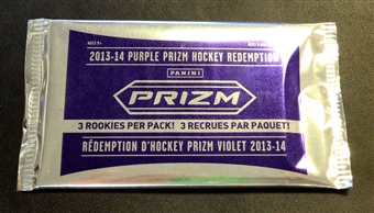 2013/14 Panini Prizm Hockey Purple Redemption Hobby Pack