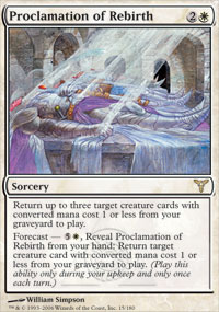 Magic the Gathering Dissension Single Proclamation of Rebirth - NEAR MINT (NM)