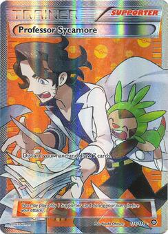 Pokemon Steam Siege Single Professor Sycamore 114/114 FULL ART - NEAR MINT (NM)
