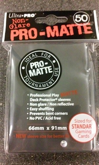 Ultra Pro Black Pro-Matte Deck Protectors (50 count pack)