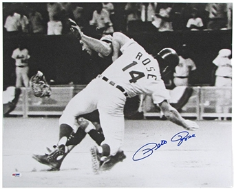 Pete Rose Autographed 1970 All-Star Game 16x20 Photo (PSA COA)
