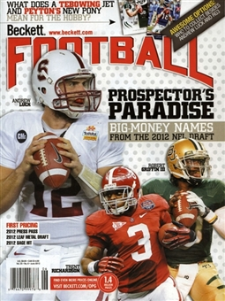 2012 Beckett Football Monthly Price Guide (#257 June) (Prospects)