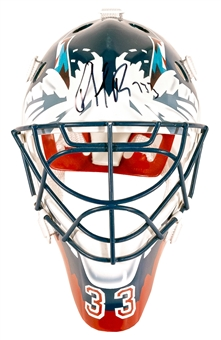 "Patrick Roy Autographed Colorado Avalanche Mini Goalie Mask ""733"" Inscription (Steiner)"