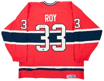 Patrick Roy Autographed Montreal Canadiens Red Jersey (AJ's Sportsworld COA)