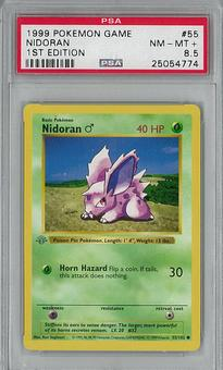 Pokemon Base Set 1st Edition Nidoran 55/102 PSA 8.5 - **25054774**