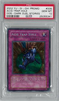 Yu-Gi-Oh DDS (Dark Duel Stories) Acid Trap Hole Secret Rare PSA 10 GEM MINT - **25055341**