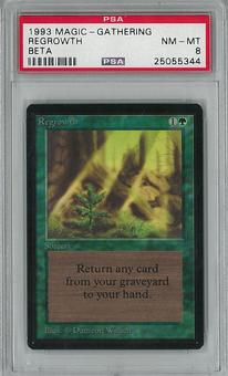 Magic the Gathering Beta Regrowth PSA 8 - **25055344**