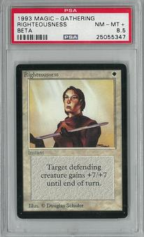 Magic the Gathering Beta Righteousness PSA 8.5 - **25055347**