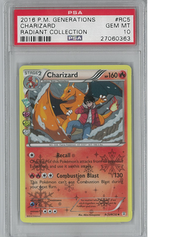 Pokemon Radiant Collection Single Charizard RC5/RC32 PSA 10 GEM MINT - **27060363**
