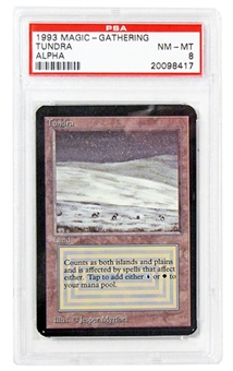 Magic the Gathering Alpha Single Tundra PSA 8