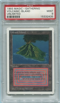 Magic the Gathering Unlimited Single Volcanic Island PSA 9 *15332435*