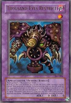 Yu-Gi-Oh Pharaoh's Servant Single Thousand-Eyes Restrict Ultra Rare - HEAVY PLAY (HP)