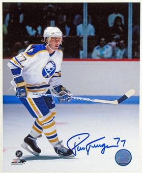 Pierre Turgeon Autographed Buffalo Sabres 8x10 Hockey Photo