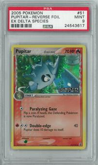 Pokemon EX Delta Species Pupitar Delta Species 51/113 Reverse foil PSA 9