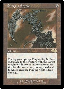 Magic the Gathering Urza's Saga Single Purging Scythe - NEAR MINT (NM)