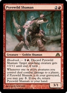 Magic the Gathering Dragon's Maze Single Pyrewild Shaman Foil