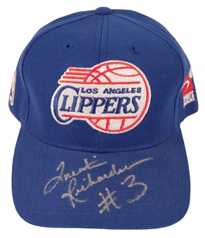 Quentin Richardson Autographed Los Angeles Clippers NBA Draft Hat (Press Pass)