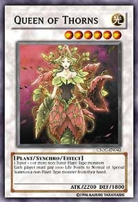Yu-Gi-Oh Crossroads of Chaos Single Queen of Thorns Super Rare