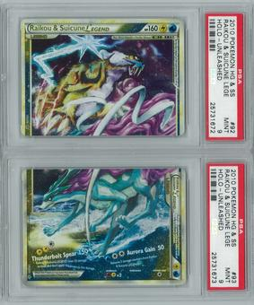Pokemon HGSS Unleashed Raikou & Suicune LEGEND BOTH HALVES PSA 9