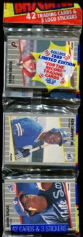 1989 Fleer Baseball Rack Pack (Ken Griffey Jr. Rookie On Top)