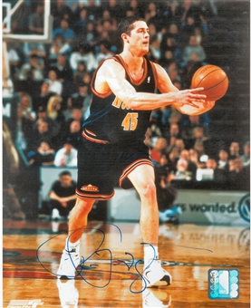 Raef LaFrentz Autographed Denver Nuggets 8x10 Photo (Press Pass)