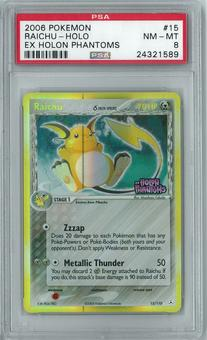 Pokemon EX Holon Phantoms Raichu Delta Species 15/110 Holo Rare PSA 8
