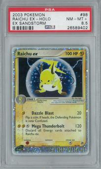 Pokemon EX Sandstorm Raichu ex 98/100 Single PSA 8.5