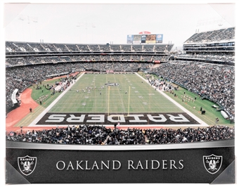 Oakland Raiders Artissimo Gradient Stadium 22x28 Canvas