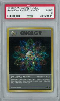 Pokemon Japanese Team Rocket Rainbow Energy Holo Rare PSA 9