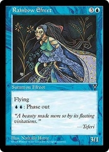 Magic the Gathering Visions Single Rainbow Efreet - NEAR MINT (NM)