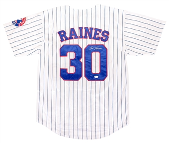 Tim Raines Autographed Montreal Expos Baseball Jersey (JSA)
