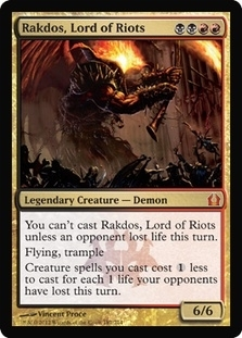 Magic the Gathering Return to Ravnica Single Rakdos, Lord of Riots - NEAR MINT (NM)