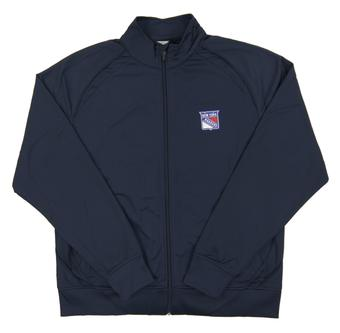 New York Rangers Level Wear Chaser Navy Performance Full Zip Track Jacket (Adult M)