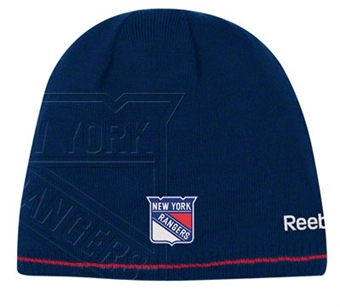 New York Rangers Reebok Official Team Reversible Cuffless Knit Hat (Size OSFA)