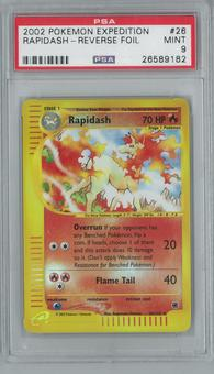 Pokemon Expedition Rapidash 26/165 Reverse Foil PSA 9