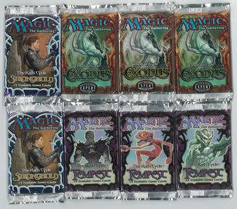 Magic the Gathering Rath Cycle Block 8x Booster Pack LOT - Stronghold Tempest and Exodus