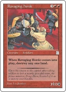 Magic the Gathering Portal 3: 3 Kingdoms Single Ravaging Horde - NEAR MINT (NM)