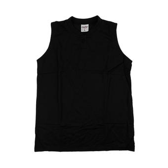 Rawlings Baseball Jersey (Sleeveless) - Black (Youth M)