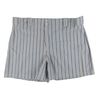 Rawlings Baseball Shorts - Grey/Blue Pinstripe (Womens XXL)